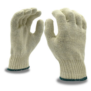 Machine Knit glove Shell medium weight natural color