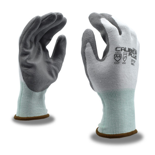 caliber cut resistant a4 hppe steel glove with pu palm