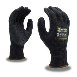 Monarch A4 cut resistant glove with latex palm coating