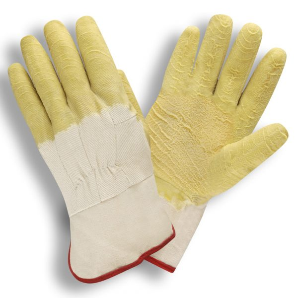 Supported lined canvas Latex Glove