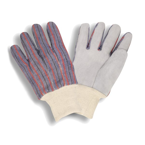 cordova safety products 7120 split cowhide palm glove with knit wrist