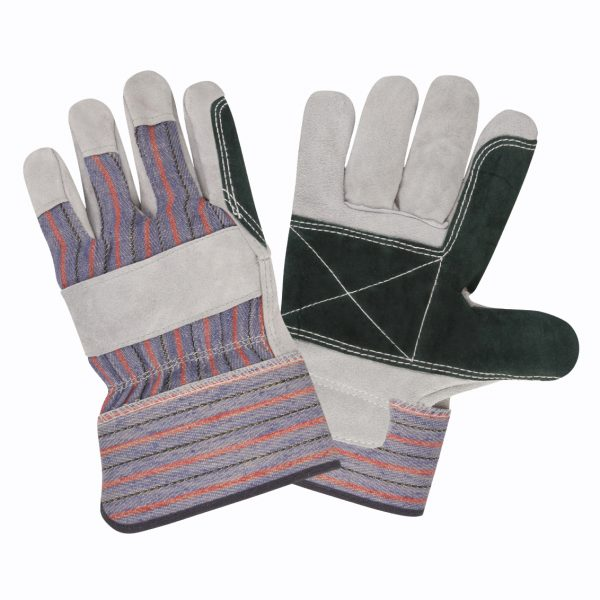 Leather Palm, Split Cowhide, Safety Cuff, Double Palm: #73511