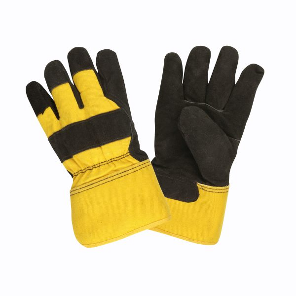 Leather Palm, Split Cowhide, Lined Thinsulate®, Safety Cuff