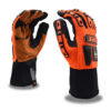 ogre orange oil and gas glove with synthetic leather palm and tpr