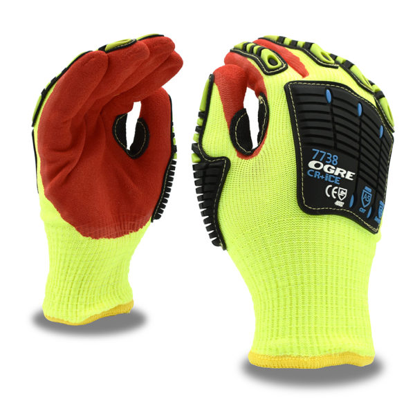 ogre thermal oil and gas glove with sandy nitrile palm and tpr