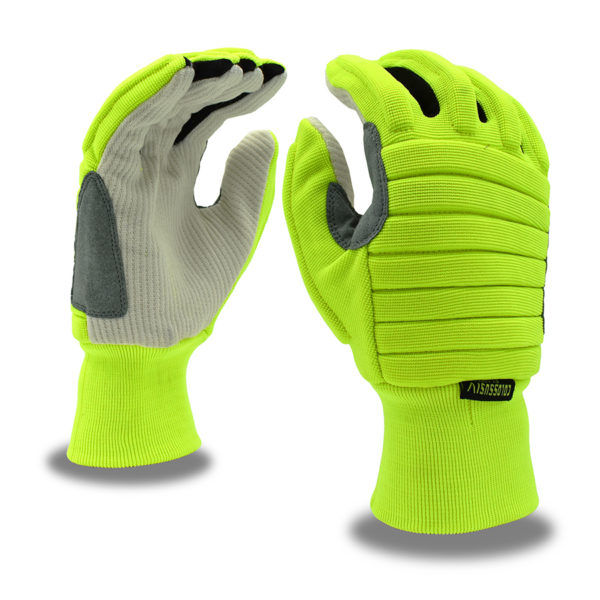 Colossus Glove with impact protection foam padding and corded canvas palm