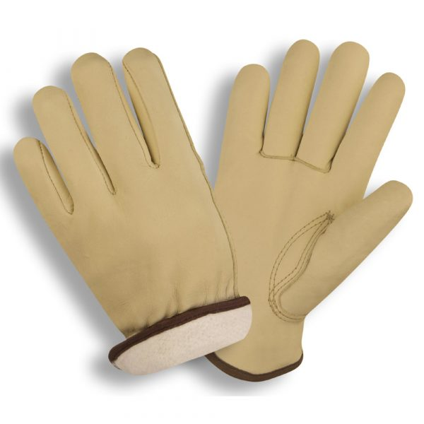 standard cowhide driver glove with thermal insulation