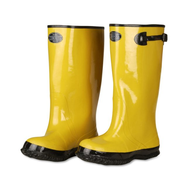 cordova safety products yellow rubber boots