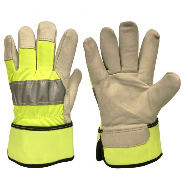 cordova safety products hi-vis line leather palm driver