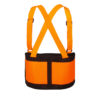 Small Cordova Safety Products SB200S High Visibility Orange Back Support Belt with Glide Adjustable Clips Orange