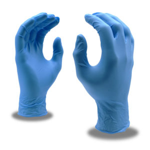blue food service disposable nitrile gloves