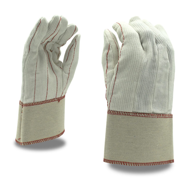 corded cotton Canvas Glove with safety cuff