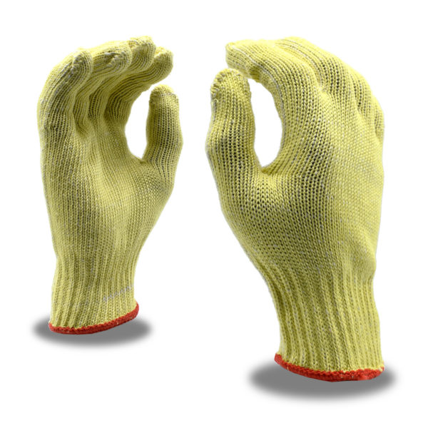 aramid and cotton plaited gloves A2 cut resistance