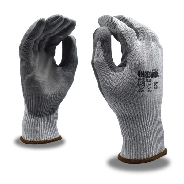 threshold gray resistant a7 glove with pu palm