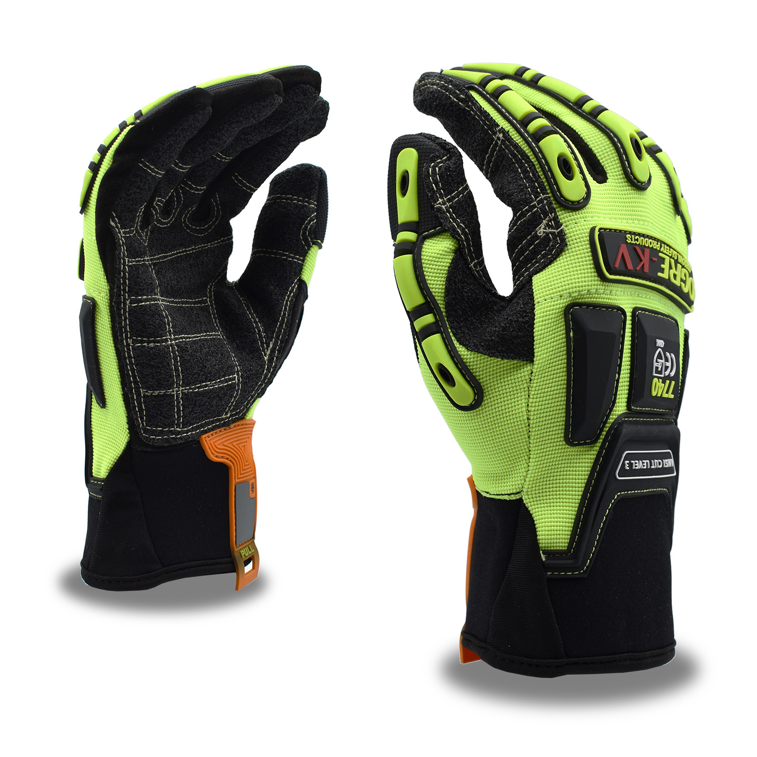ogre oil and gas glove with kevlar palm and tpr