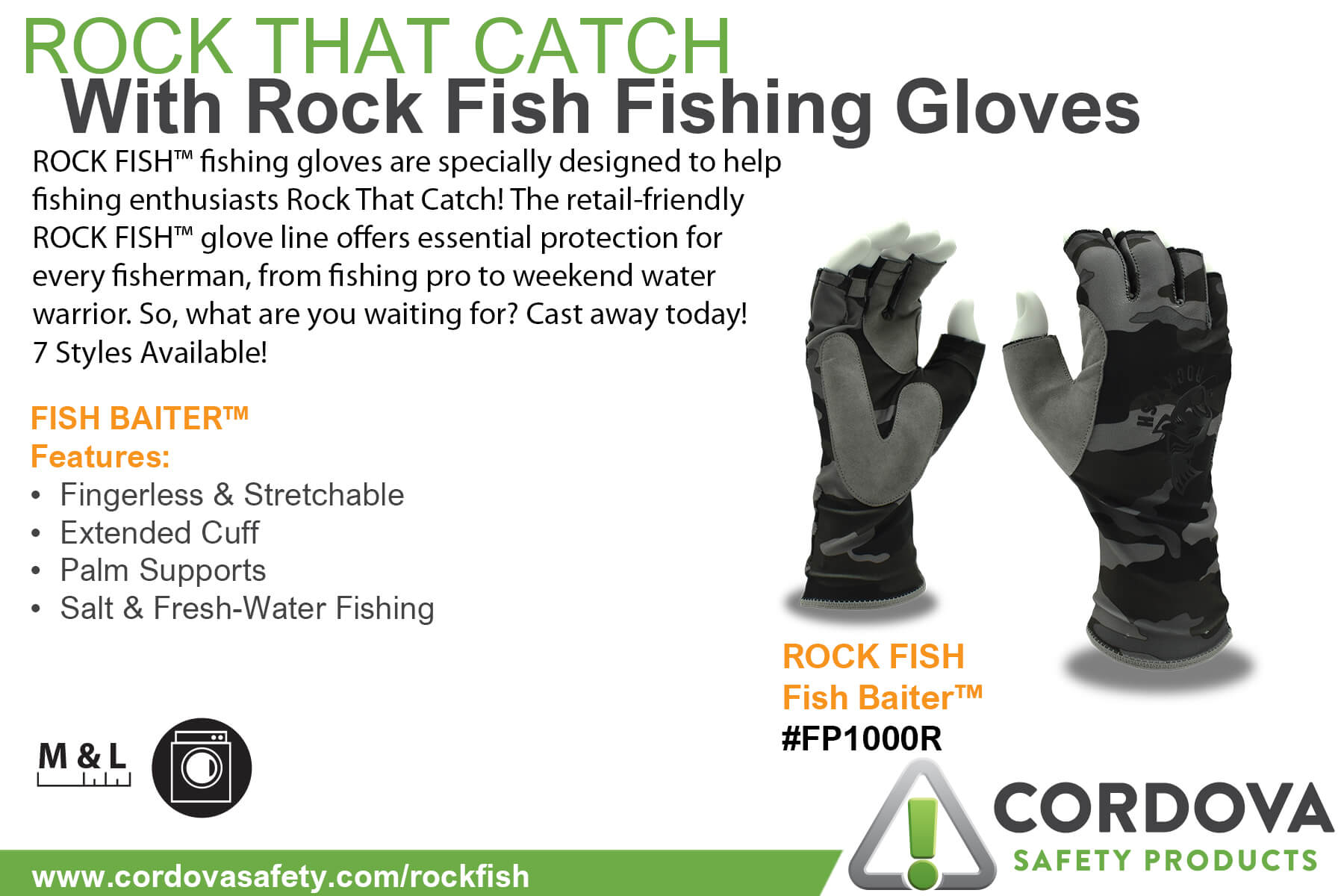 FP1000R Fishing Gloves