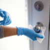 disposable gloves and covid