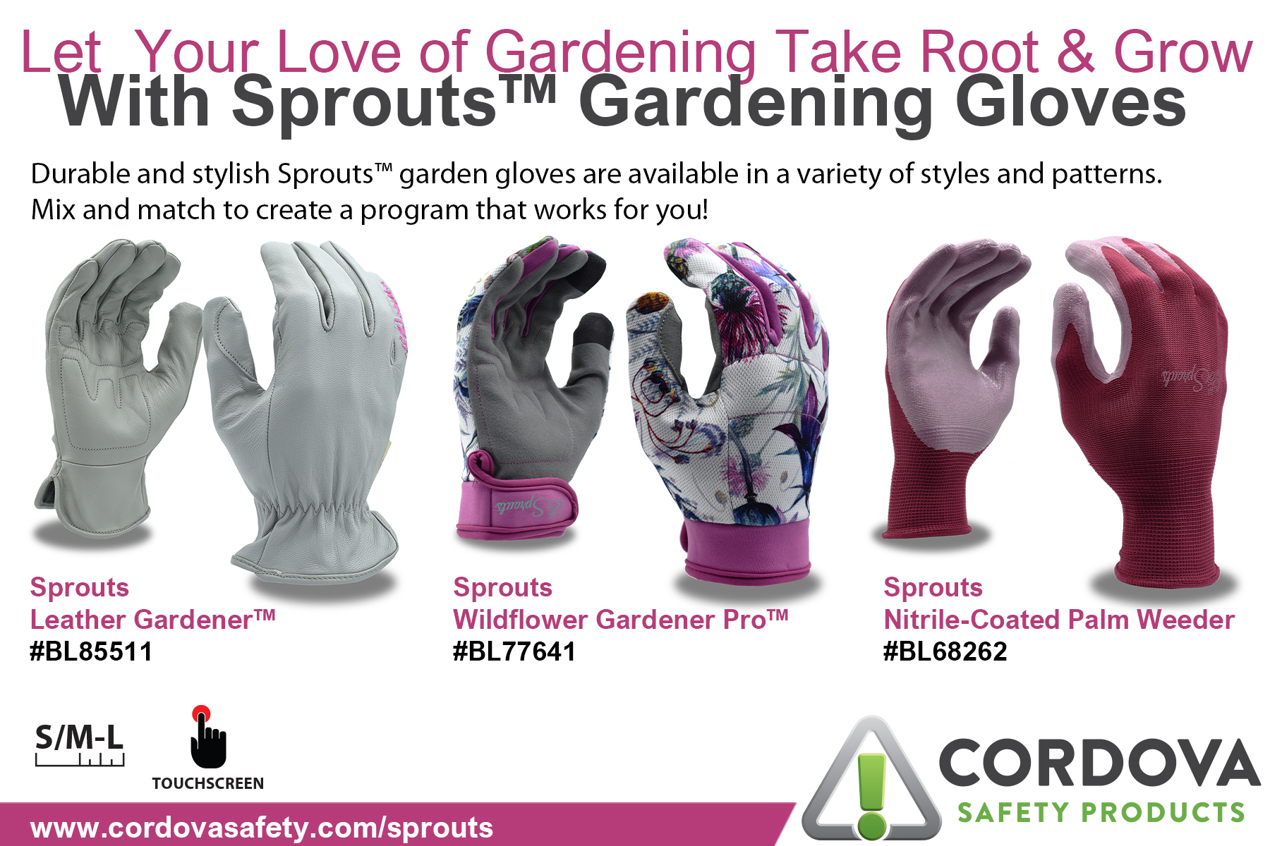 Sprouts Garden Gloves