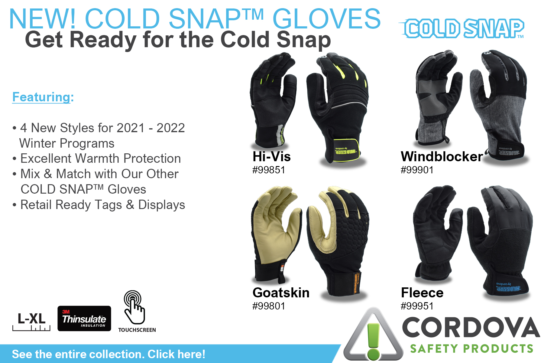 New Cold Snap Winter Gloves